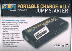 PORTABLE CHARGE-ALL JUMP STARTER NEW IN BOX AND NEVER USED $50