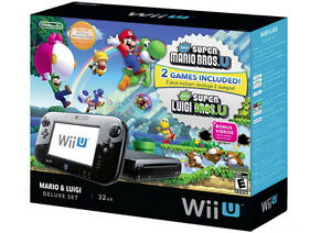 Wii U System bundle - Mario Luigi Deluxe set -Used-MINT-In Box