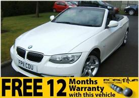 BMW 325 CONVERTIBLE RARE 3.0 Litre 6 Cylinder SE 2011 with just 34k miles 54mpg