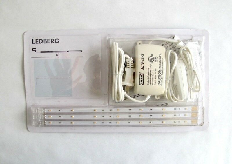 IKEA LEDBERG LED 3 Piece Lighting Strip Set White WARM WHITE PLUS EXTRA 2 STRIPS