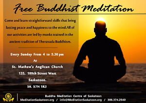 Free Meditation Classes (Open to all)