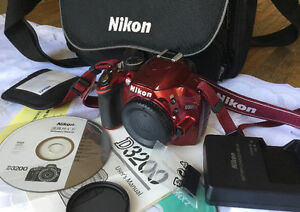 Nikon 24MP D3200, DSLR like new with accessories.