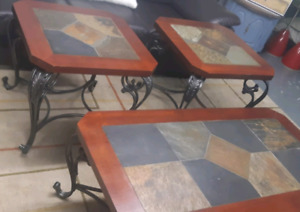 Solid coffee table set (3pcs)/delivery available