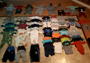Lot of baby boy clothes (size 3 months)