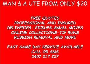 TOO BIG FOR THE CAR? MAN AND UTE FROM $20 FREE QUOTE   SAME DAY P North Lakes Pine Rivers Area Preview