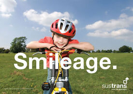 Own a bike? Love cycling? Sustrans Cycle Path Fundraiser in Bath £9.00/hour Part Time