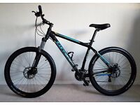 "CARRERA HELLCAT MOUNTAIN BIKE - 20"" FRAME - 26"" WHEELS - LOCK FORKS - 165 POUNDS OVNO"