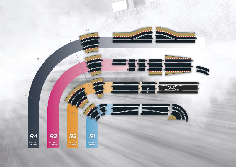 Various Scalextric Track Pieces