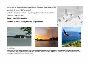 Bras D'or Lake, Cape George Lot for sale
