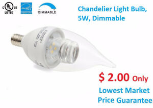 LED Chandelier Bulb $2.00 Only,  Slim Panel $9.99 Only, On Sales