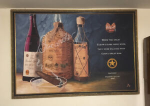 Bacardi oil painting