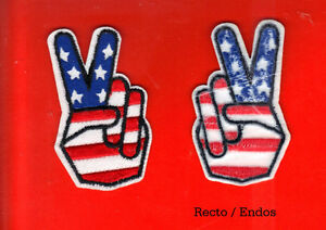 ÉCUSSON PAIX PEACE VICTORY AMERICA USA FLAG BIKER PATCH BADGE