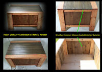 Durable, Wood Outdoor Deck Box / Occasional Table / With Storage