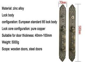 Single Door Double Handle Lock(Bling golden)#021260