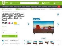 4K LG 43 inch TV.
