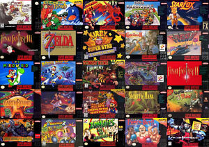 SUPER NINTENDO SNES AND GAMEBOY CONSOLE GAMES JEUX