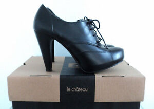 NEW LE CHATEAU BLACK LACE UP SHOES/BOOTIES SIZE 7 MSRP $69.95