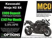 Kawasaki Ninja H2 SX Metallic Carbon Grey 2018 Model