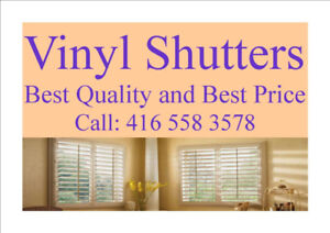 WE SELL SHUTTERS call 416 558 3578