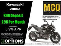KAWASAKI Z800e ABS BLACK BRAND NW MANAGERS SPECIAL
