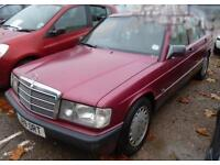 Mercedes-Benz 190 1.8 auto E 1991 j reg almandine red metalic, new mot