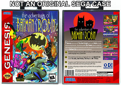 Adventures of Batman and Robin, The - Sega Genesis Custom Case *NO GAME*