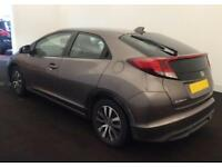 2014 BROWN HONDA CIVIC 1.6 I-DTEC 120 SE PLUS DIESEL 5DR CAR FINANCE FR £29 PW
