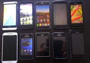 Lot de 10 cellulaires pour réparer ou pour les pièces, à lire !!