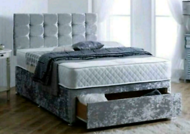 💥BEDS divans SLEIGHS Panel + STORAGE BOXES 🆓DELIVERY