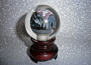 CRYSTAL BALL GREAT WALL OF CHINA BRUSH PAINTING WITHIN