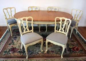 Excellent Malcolm French Distressed Dining Room Set SEE VIDEO