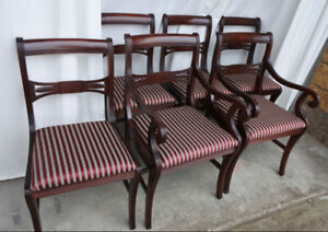 A set of 5 Antique Duncan Fyfe Chairs, newly restored/refinished