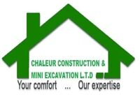 Chaleur construction/Mini excavation 2017 (Moncton)