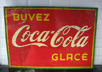 "1938 Enseigne Metal Coca-Cola 19"" x 27 1/2"""