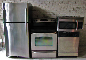 Fridge, Stove/Oven, Microwave, Dishwasher package deal