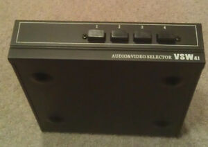 (LIKE NEW) AUDIO & VIDEO SELECTOR VSW41 (4-INPUT, 1-OUTPUT)