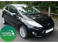 £136.33 PER MONTH - BLACK 2011 FORD FIESTA 1.4 TITANIUM 3 DOOR AUTOMATIC PETROL