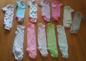Baby Girl Onesies/Bodysuits (Size 12 months) *NEW!*