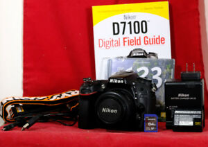 Nikon D7100 w 50mm f1.8, Nikon Bag, 64gb SD, Guide Book