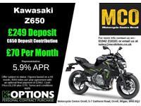 KAWASAKI Z650 2018 MODEL METALLIC MATT COVERT GREEN/METALLIC FLAT SPARK BLACK