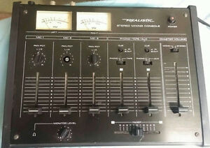 Vintage Realistic audio mixer back from the 1980's