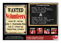 Canada Day Volunteers