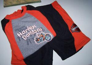 Harley Davidson Size 24 Months T Shirt and Shorts Set London Ontario image 1