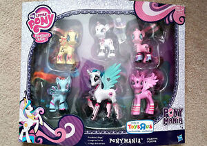 My Little Pony Ponymania Collection - 6 Brushable Ponies - NEW