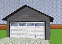 Detached garages starting at 13,900 + GST