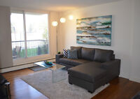 Fully Furnished 1 Bd condo in Trendy Kensington; steps to CTrain