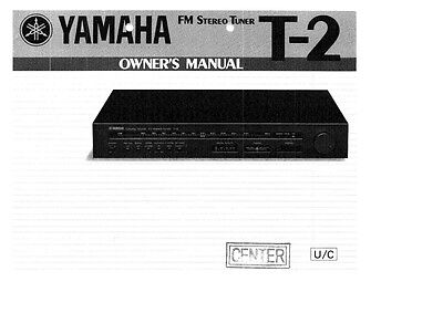 Yamaha T-2 Tuner Owners Manual
