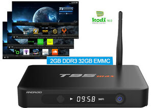 TOP OF THE LINE ANDROID TV BOX 2GB RAM, 32GB ROM, Free Keyboard.