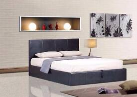 5FT KINGSIZE LEATHER BED WITH 110% MEMORY FOAM SPRUNG MATTRESS , SINGLE/DOUBLE AVAILABLE! SAME DAY