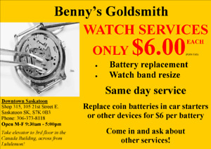 NEW Watch Battery Replacement for only $6!